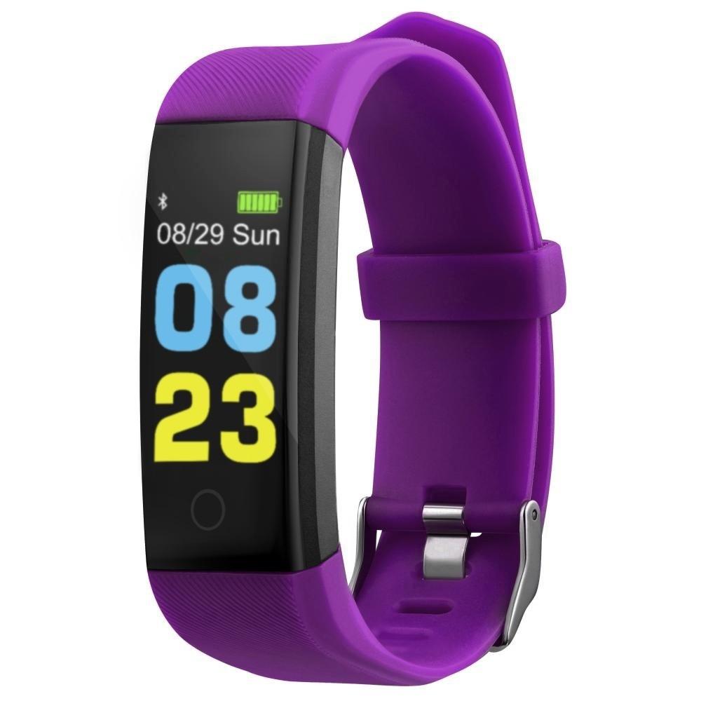 Фитнес-браслет с измерением давления и пульса Elband LM7 фиолетовый