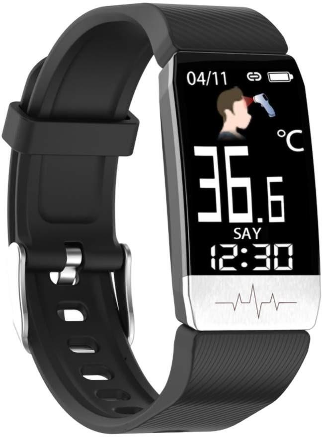 Фитнес-браслет с измерением давления, пульса и ЭКГ Elband T1S черный