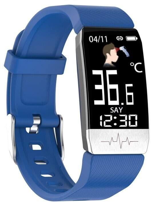 Фитнес-браслет с измерением давления, пульса и ЭКГ Elband T1S синий