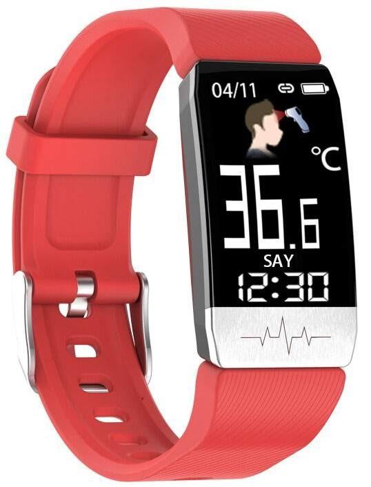 Фитнес-браслет с измерением давления, пульса и ЭКГ Elband T1S красный