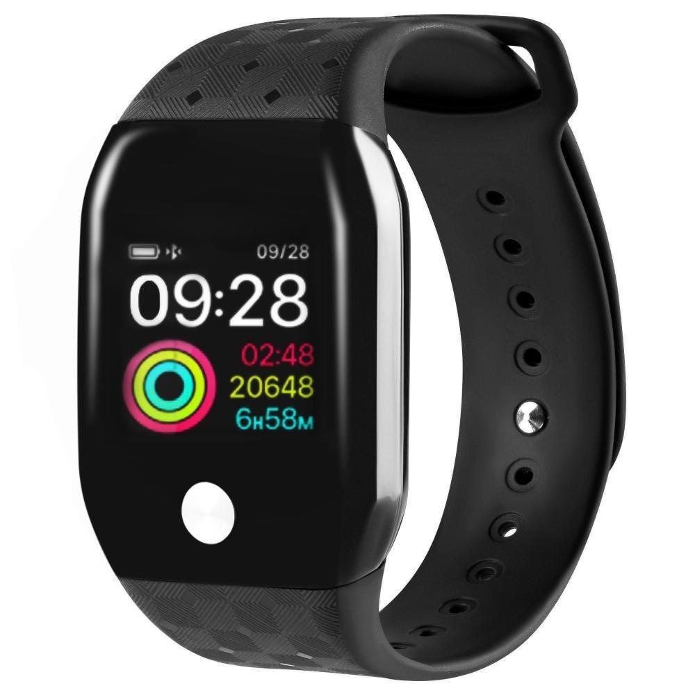 Фитнес-часы с измерением давления и пульса Gsmin A88+ (2019) черные