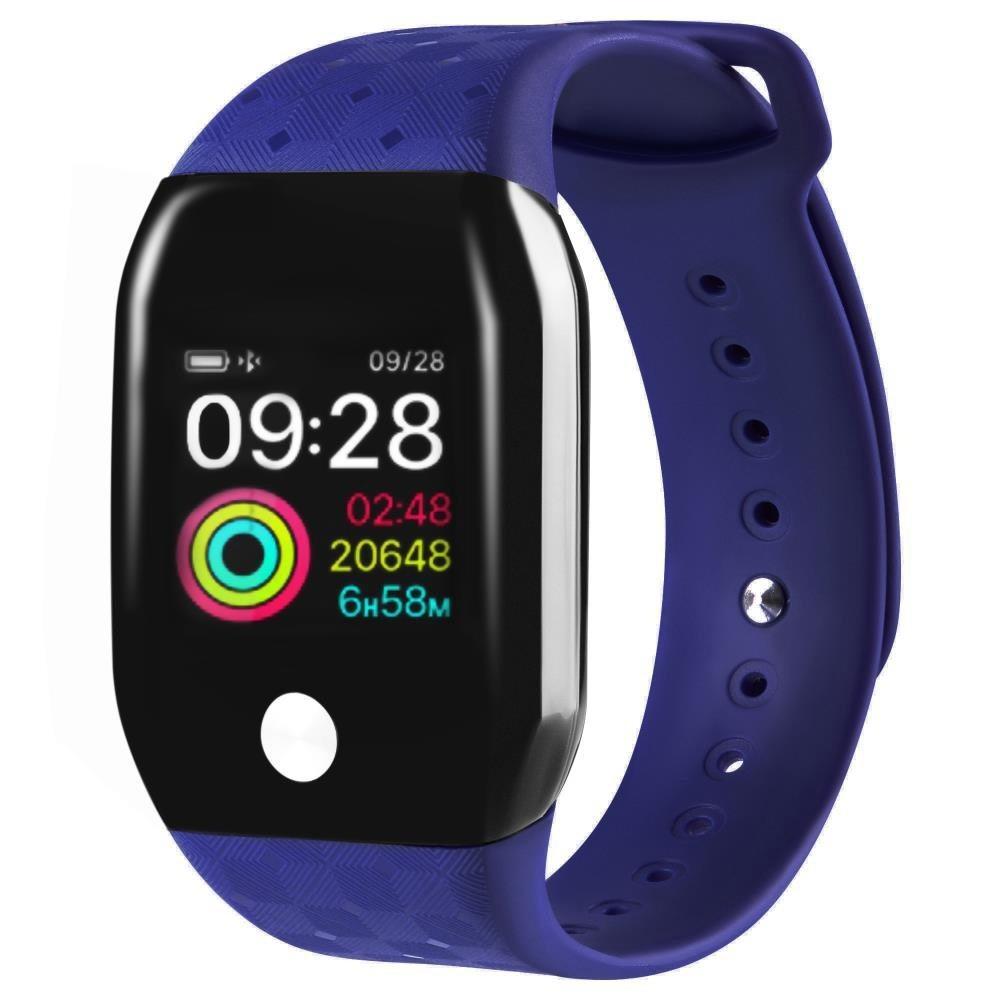 Фитнес-часы с измерением давления и пульса Gsmin A88+ (2019) синие
