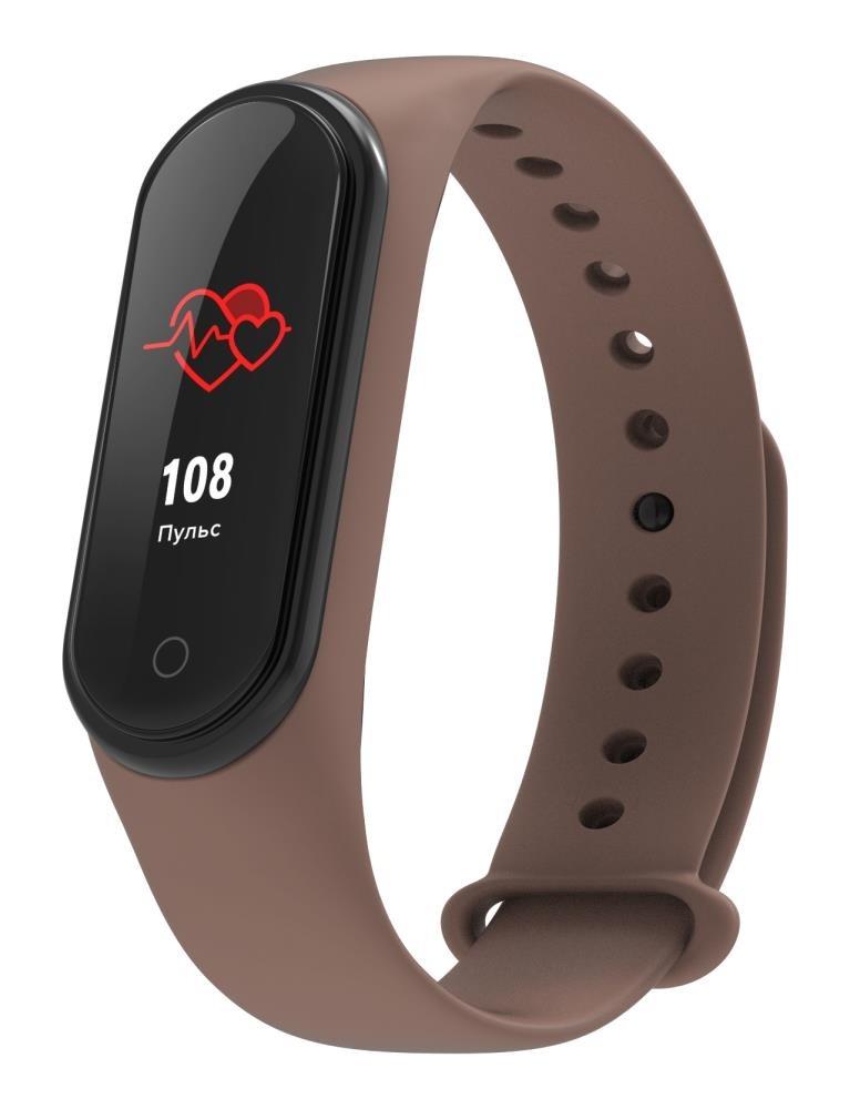 Фитнес-браслет с измерением давления и пульса Elband A9 коричневый