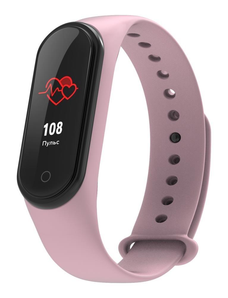 Фитнес-браслет с измерением давления и пульса Elband A9 розовый