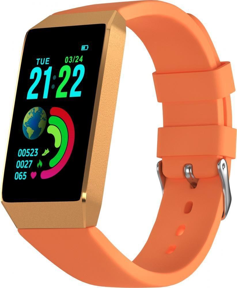 Фитнес-браслет с измерением давления и пульса Gsmin B3 оранжевый