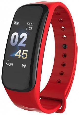 Фитнес-браслет с измерением давления и пульса Gsmin C1i красный