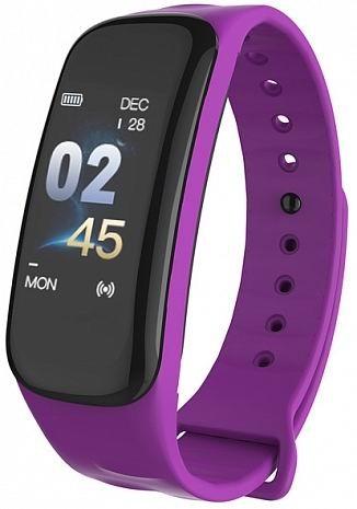 Фитнес-браслет с измерением давления и пульса Gsmin C1i фиолетовый
