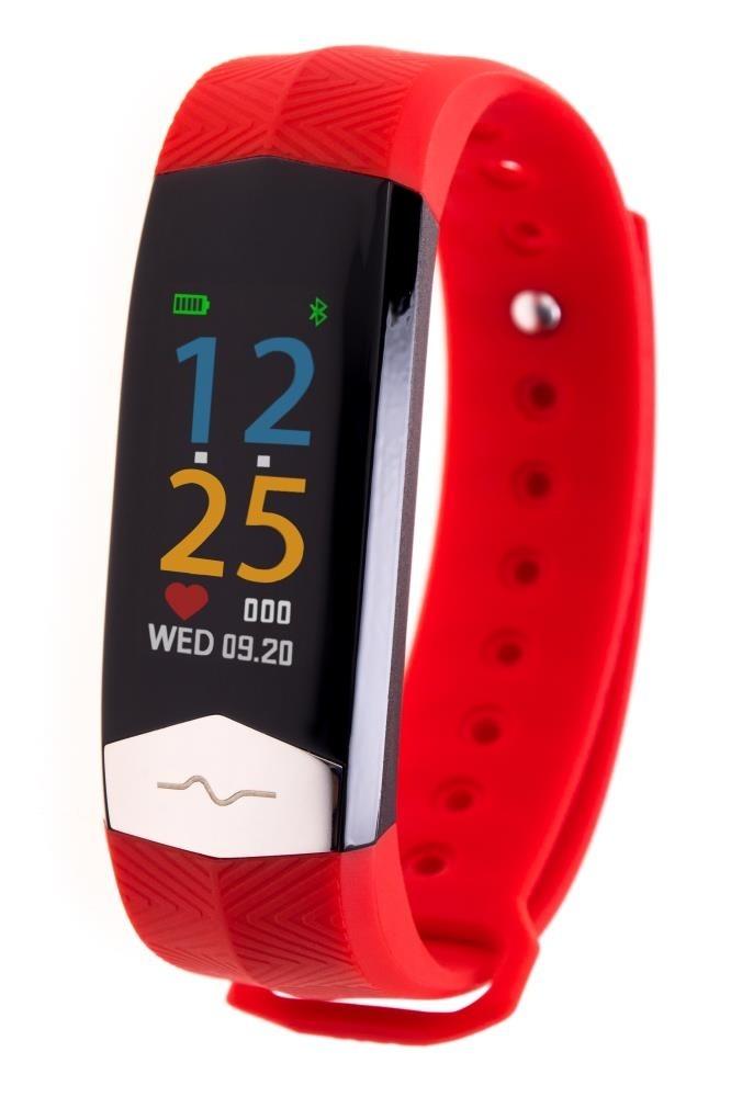 Фитнес-браслет с измерением давления, пульса и ЭКГ Gsmin CD01 (2019) красный