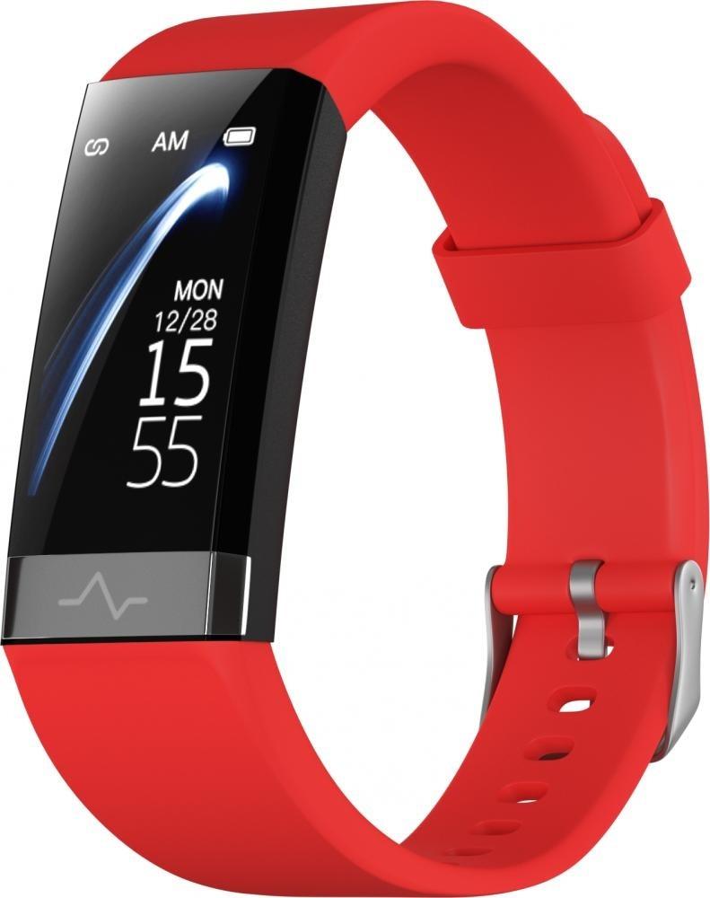 Фитнес-браслет с измерением давления, пульса и ЭКГ Gsmin CD01 (2020) красный