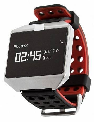 Фитнес-часы с измерением давления, пульса и ЭКГ Gsmin CK12 Pro черно-красные
