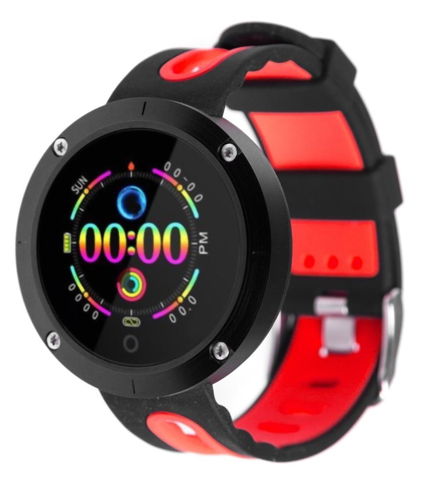 Фитнес-часы с измерением давления и пульса Gsmin DM58 (2019) черно-красные