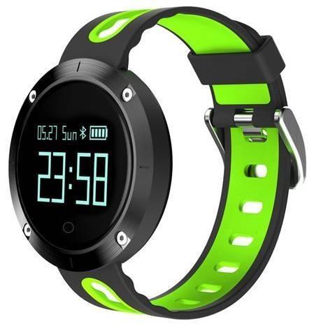 Фитнес-часы с измерением давления и пульса Gsmin DM58 черно-зеленые