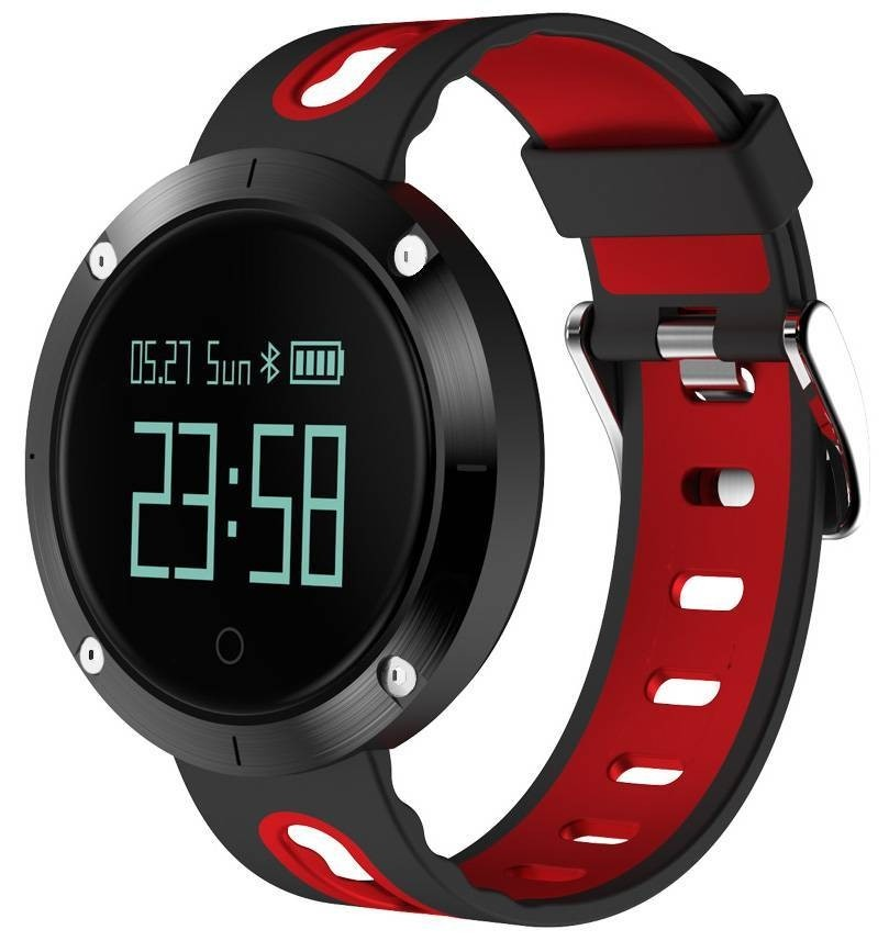 Фитнес-часы с измерением давления и пульса Gsmin DM58 черно-красные