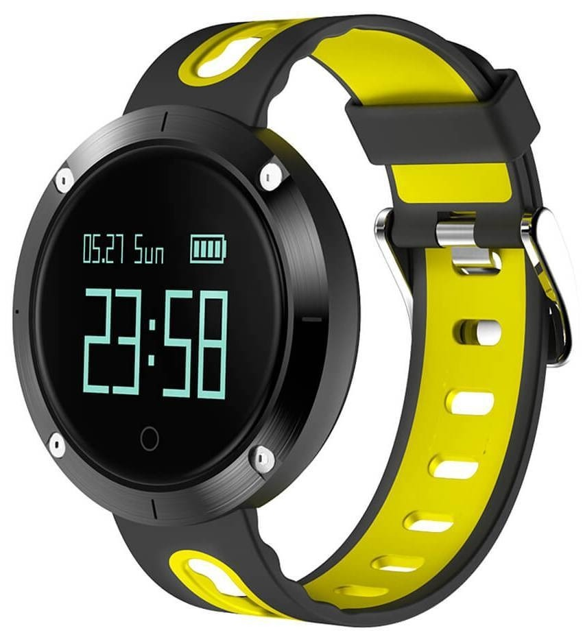 Фитнес-часы с измерением давления и пульса Gsmin DM58 черно-желтые