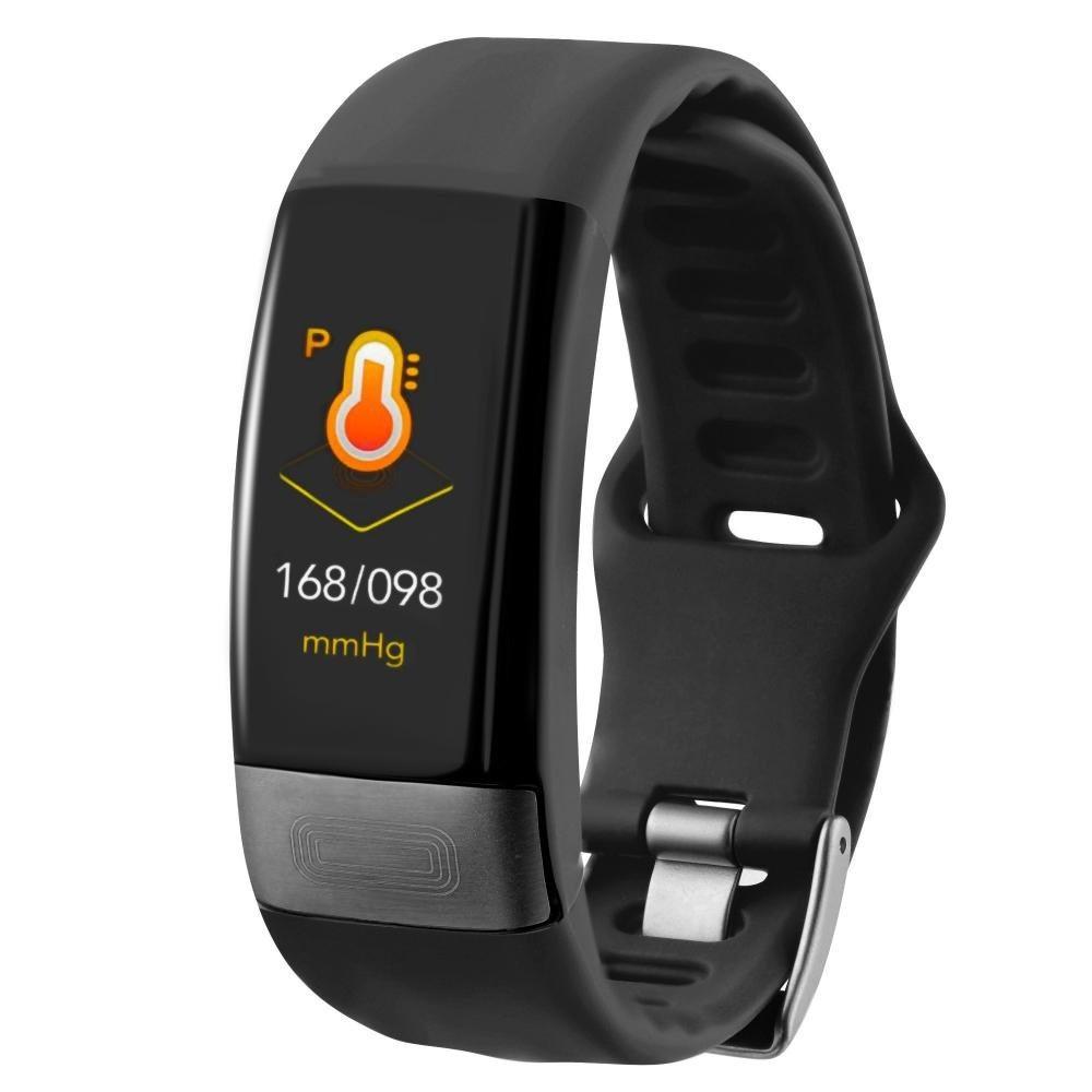 Фитнес-браслет с измерением давления, пульса и ЭКГ Gsmin E11 черный
