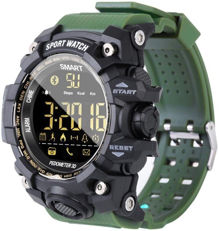 Фитнес-часы Gsmin EX16s зеленые