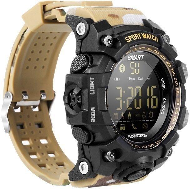 Фитнес-часы Gsmin EX16s песочный камуфляж