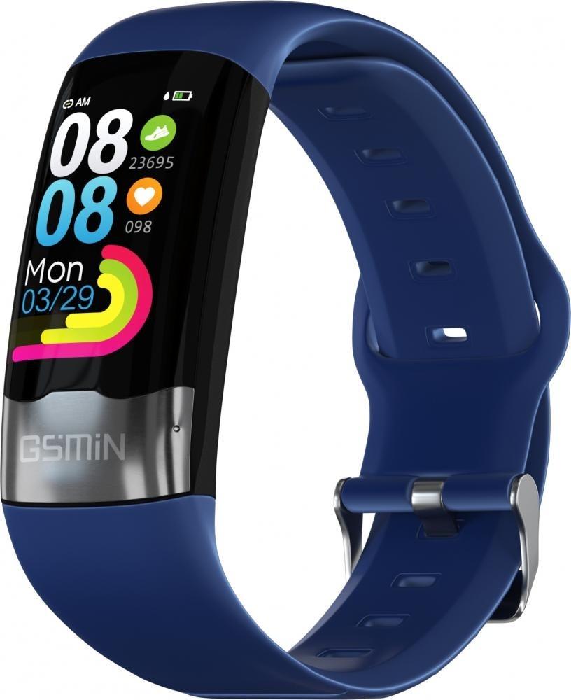 Фитнес-браслет с измерением давления, пульса и ЭКГ Gsmin G20 (2020) синий