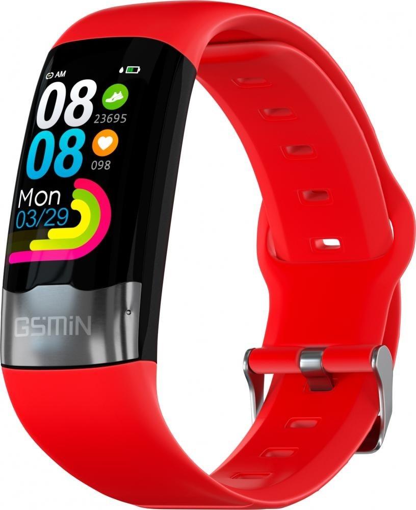 Фитнес-браслет с измерением давления, пульса и ЭКГ Gsmin G20 (2020) красный