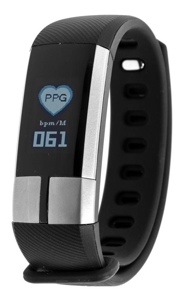Фитнес-браслет с измерением давления, пульса и ЭКГ Gsmin G20 черный