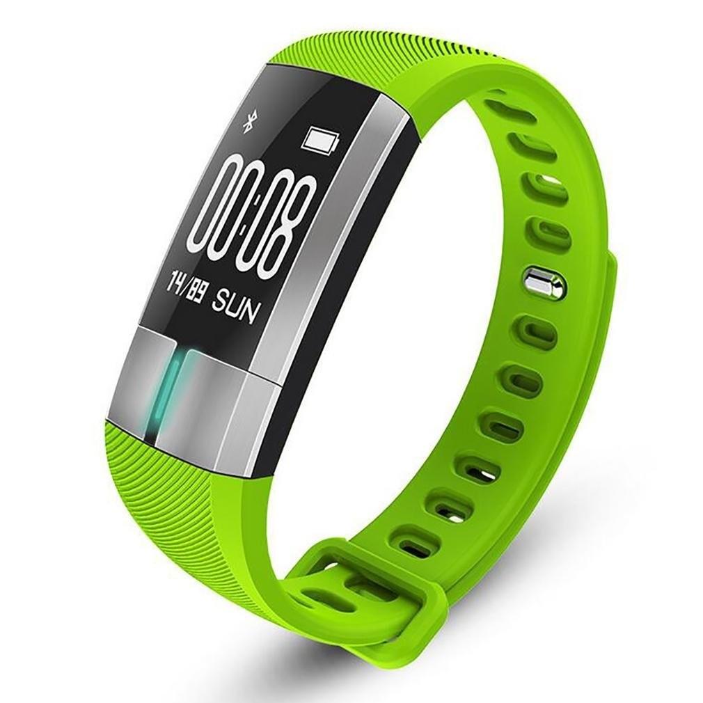 Фитнес-браслет с измерением давления, пульса и ЭКГ Gsmin G20 зеленый