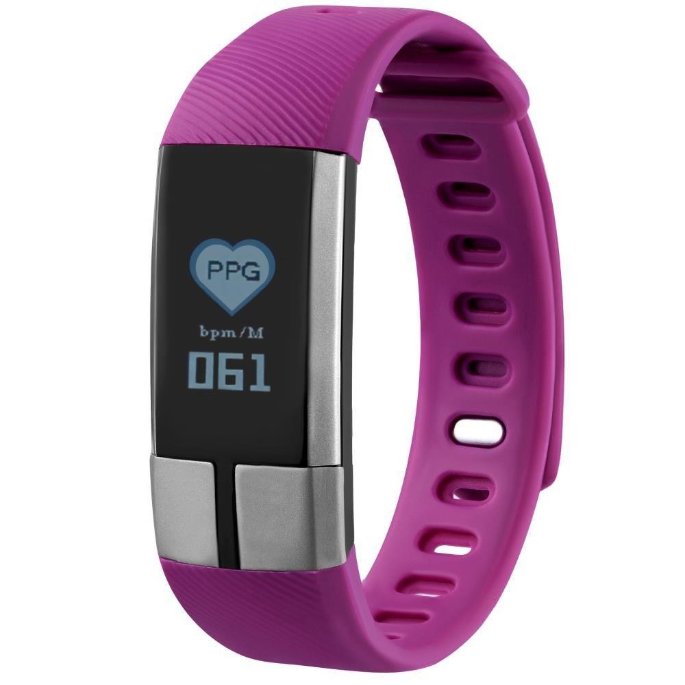 Фитнес-браслет с измерением давления, пульса и ЭКГ Gsmin G20 фиолетовый