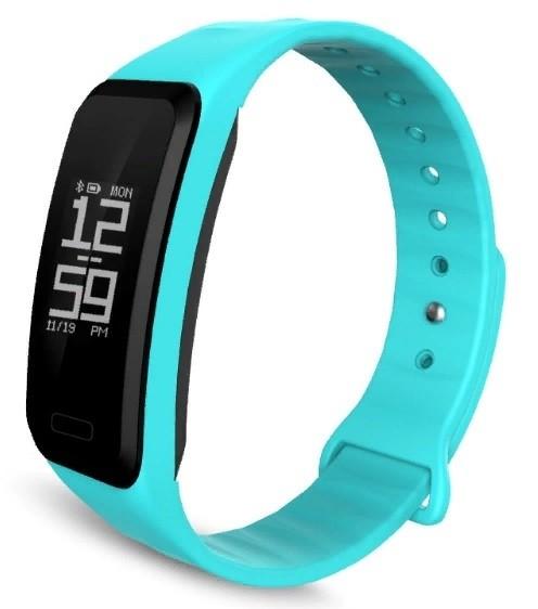 Фитнес-браслет с измерением давления и пульса Gsmin R1 бирюзовый