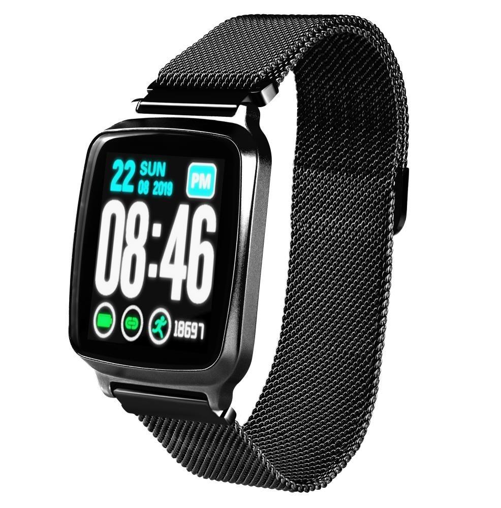 Фитнес-часы с измерением давления и пульса Gsmin WP10 черные, металл