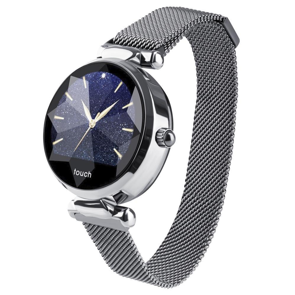 Фитнес-часы с измерением давления и пульса Gsmin WP11s серебристые