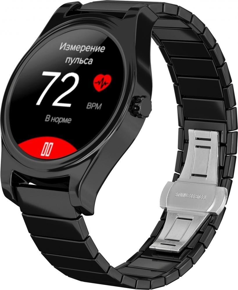 Фитнес-часы с измерением давления и пульса Gsmin WP5 черные, черная керамика
