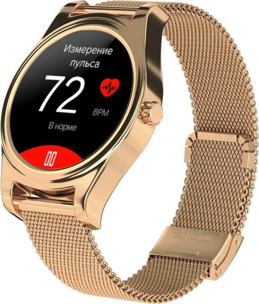 Фитнес-часы с измерением давления и пульса Gsmin WP5 золотистые