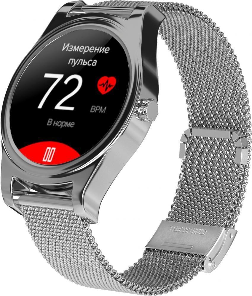 Фитнес-часы с измерением давления и пульса Gsmin WP5 серебристые