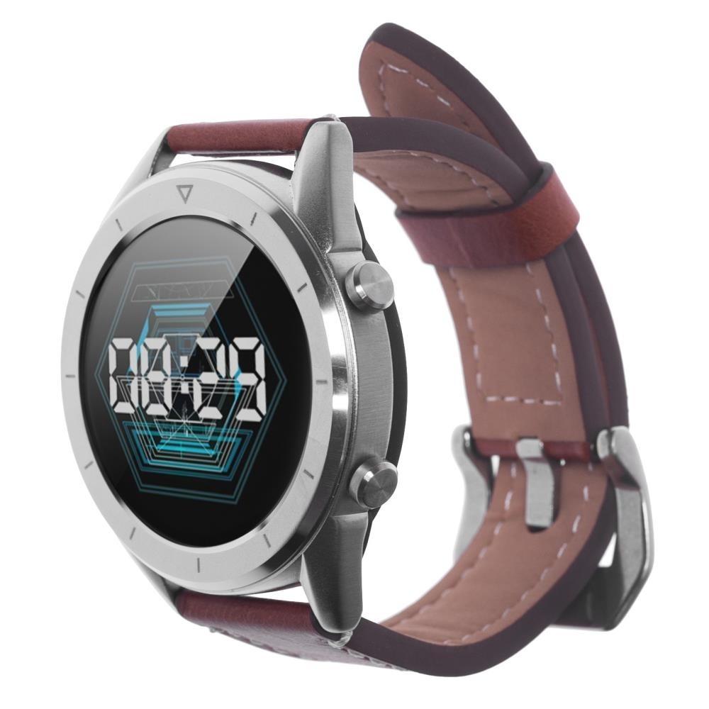 Фитнес-часы с измерением давления, пульса и ЭКГ Gsmin WP90 Series G коричневая кожа