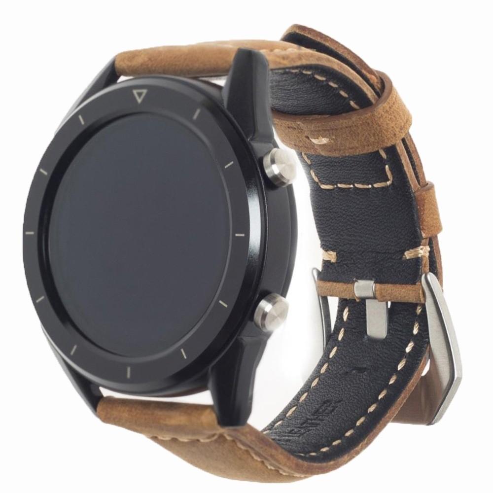 Фитнес-часы с измерением давления, пульса и ЭКГ Gsmin WP90 Suede (черный корпус, коричневая замша)
