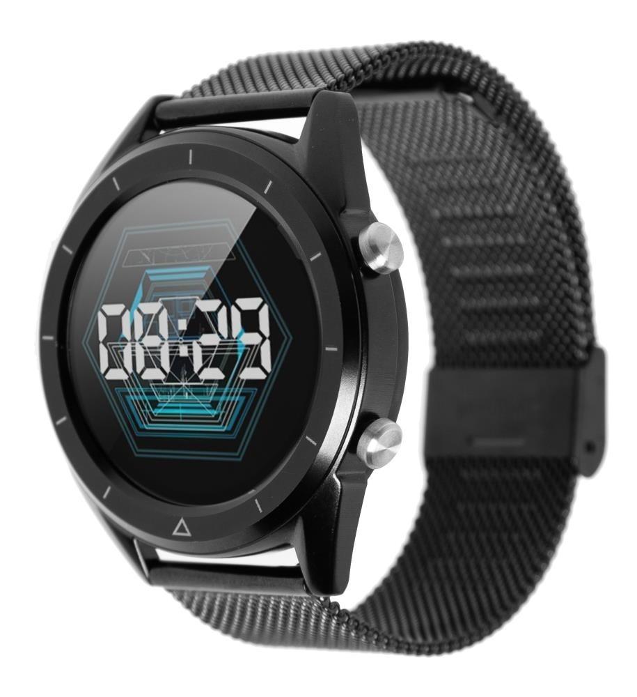 Фитнес-часы с измерением давления, пульса и ЭКГ Gsmin WP90s черные