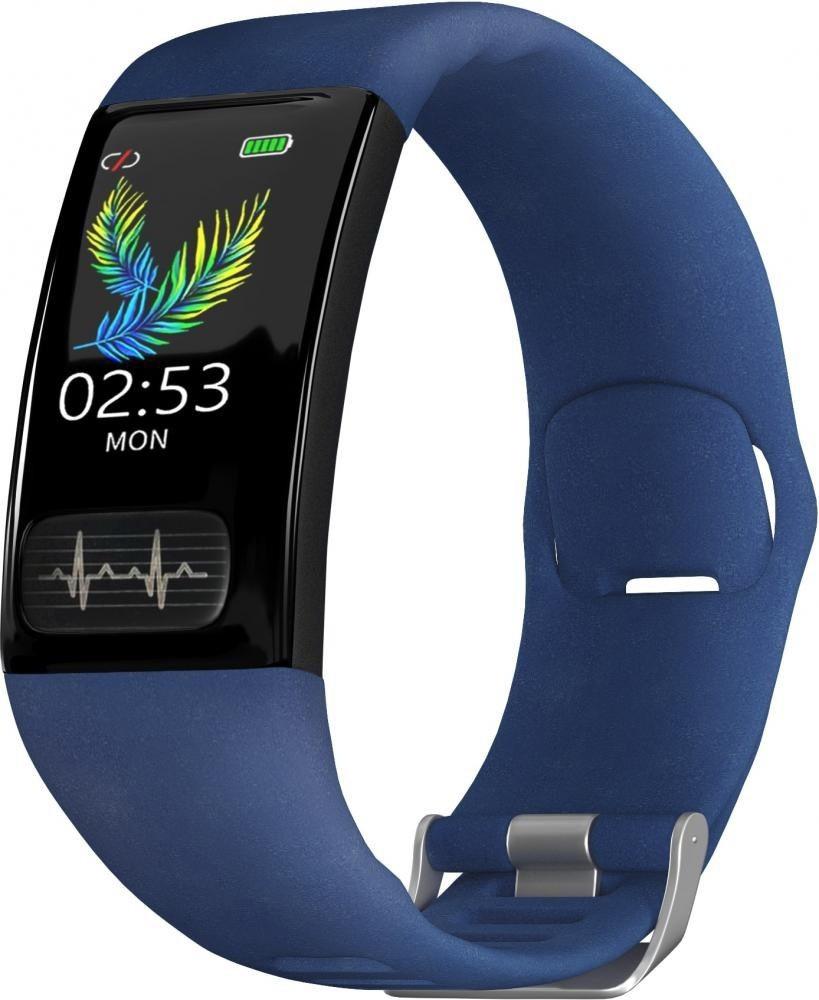 Фитнес-браслет с измерением давления, пульса и ЭКГ Gsmin WR11 (2020) синий