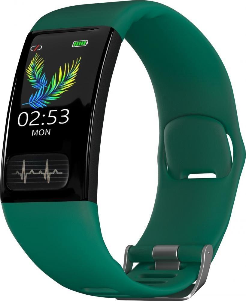 Фитнес-браслет с измерением давления, пульса и ЭКГ Gsmin WR11 (2020) зеленый