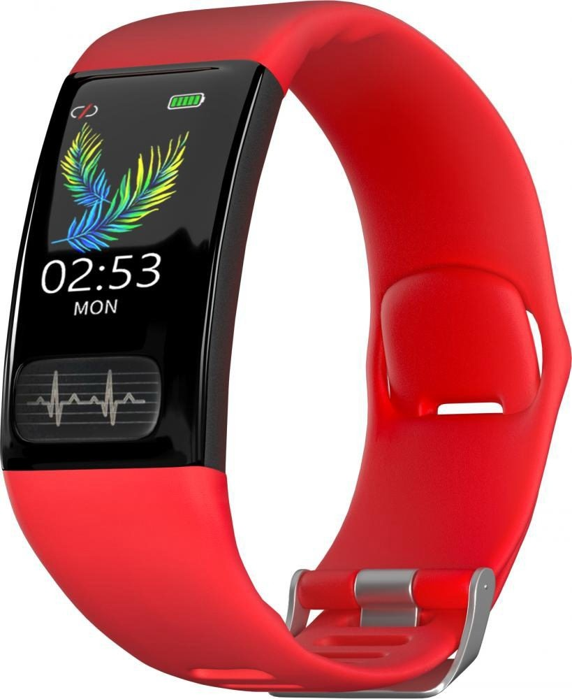 Фитнес-браслет с измерением давления, пульса и ЭКГ Gsmin WR11 (2020) красный