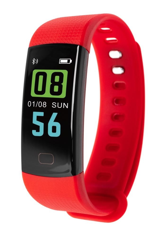 Фитнес-браслет с измерением давления и пульса Gsmin WR12 красный