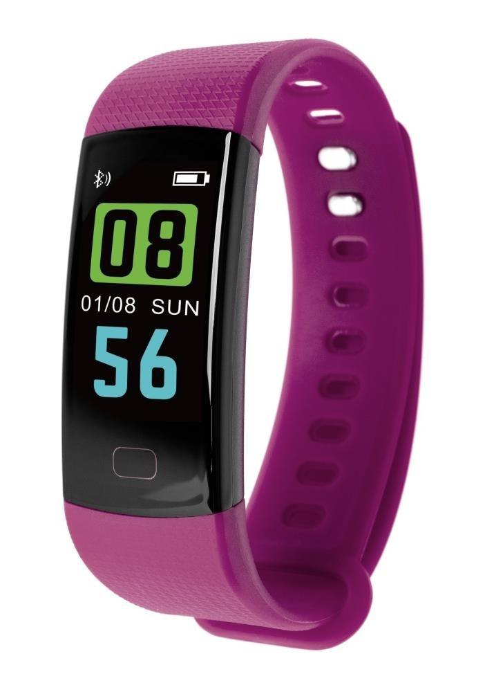 Фитнес-браслет с измерением давления и пульса Gsmin WR12 фиолетовый