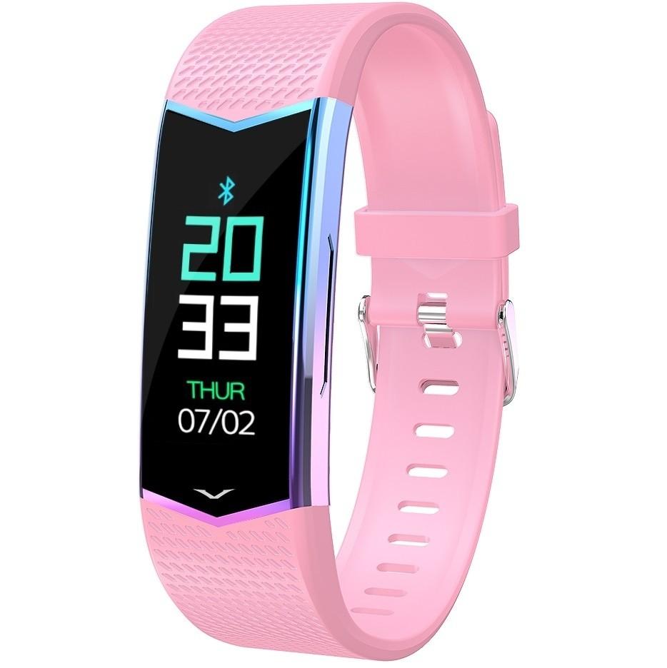 Фитнес-браслет с измерением давления и пульса Gsmin WR21 (2019) розовый
