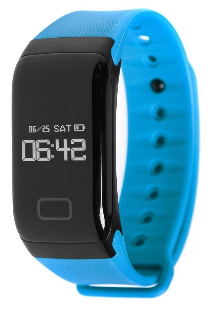 Фитнес-браслет с измерением давления и пульса Gsmin WR41 голубой