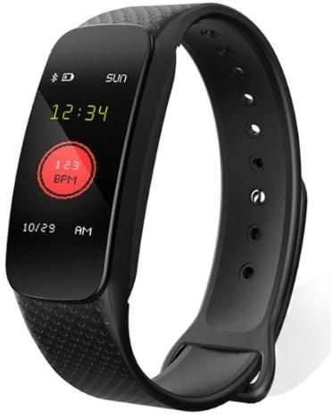 Фитнес-браслет с измерением давления и пульса Gsmin WR42 черный