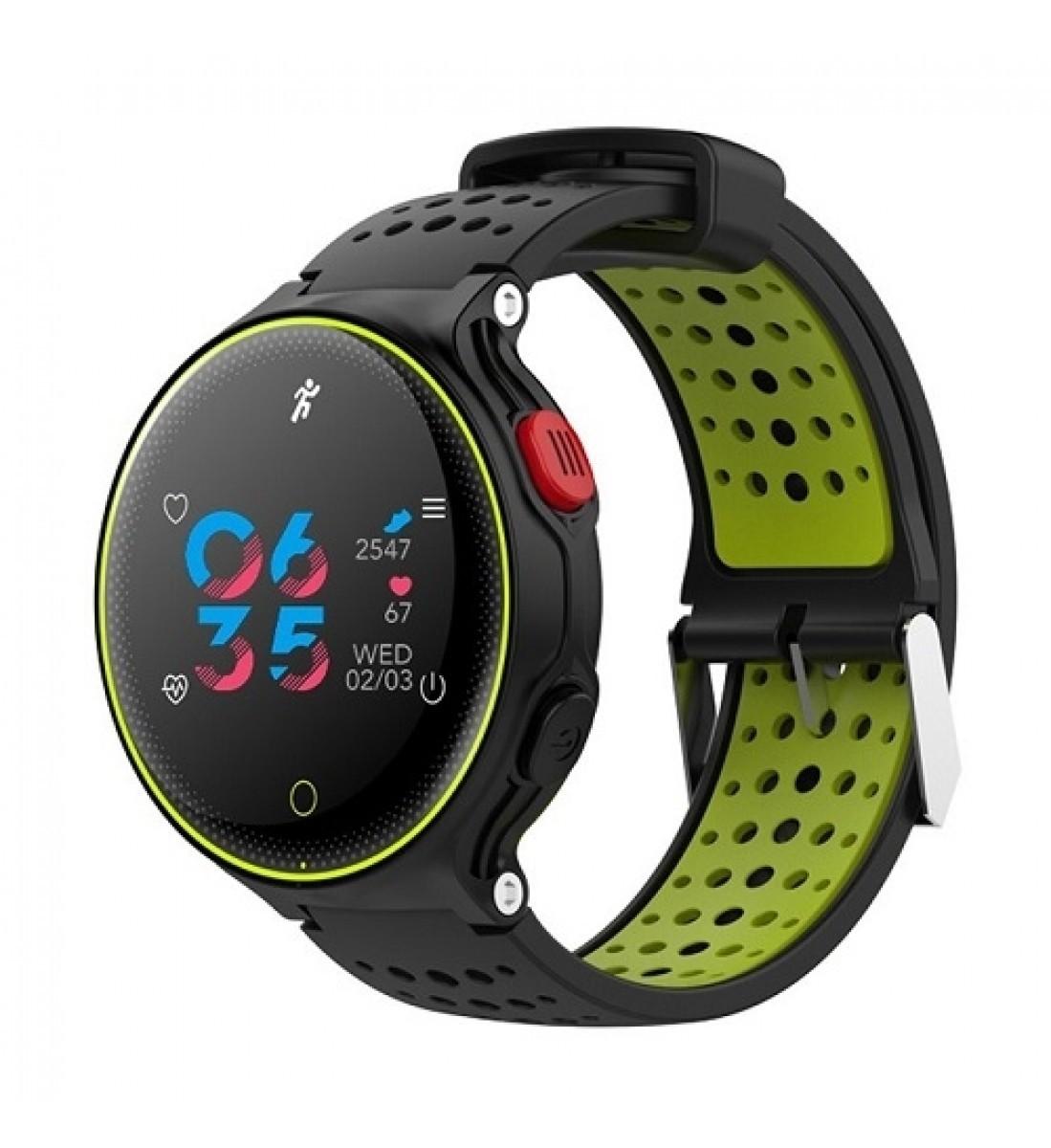 Фитнес-часы с измерением давления и пульса Gsmin X2 Plus черно-желтые