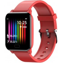 Фитнес-часы с измерением давления и пульса Elband SW06 красные