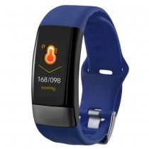 Фитнес-браслет с измерением давления, пульса и ЭКГ Gsmin E11 синий