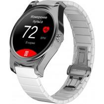Фитнес-часы с измерением давления и пульса Gsmin WP5 серебристые, белая керамика